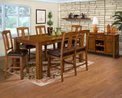 Rustic Counter Height Dining