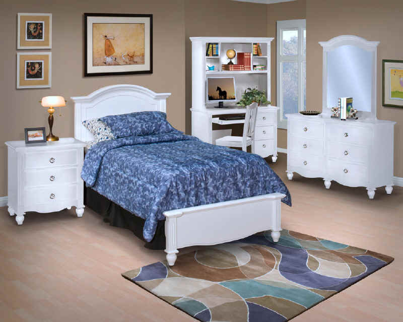 Victoria White Twin Panel Bedroom | Nations Rent To Own