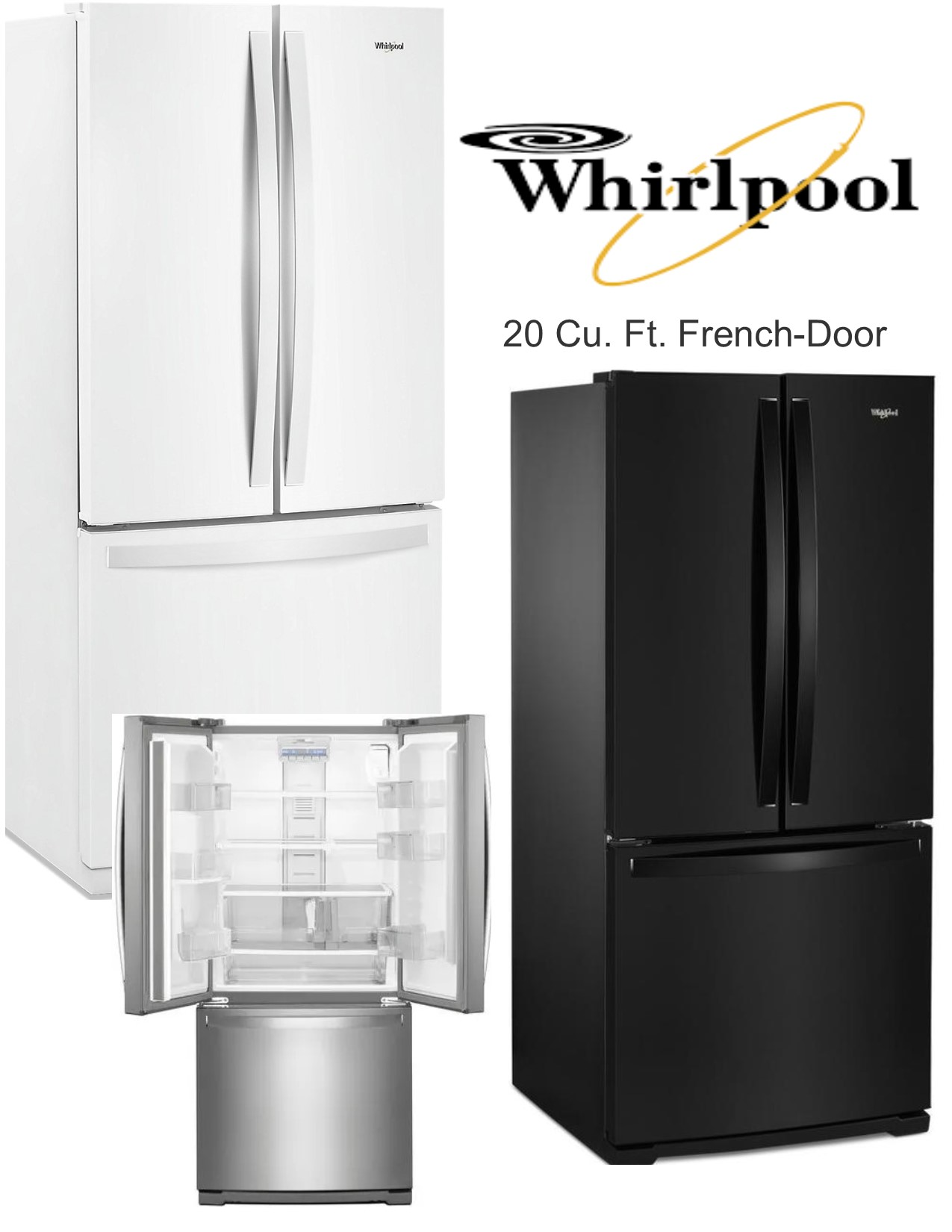 Whirlpool 20 Cu.Ft. French Door Refrigerator | Nations